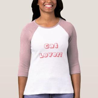 T impresso da luva de Raglan das mulheres Camisetas