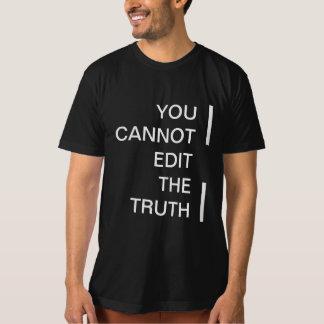 T impresso você não pode editar o menswear da camisetas