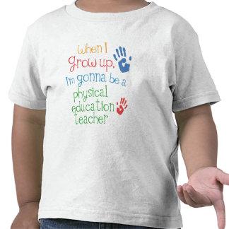 T infantil do bebê do professor da educação física t-shirt