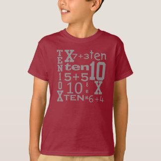 T inspirado MATEMÁTICA do ANIVERSÁRIO do Camiseta