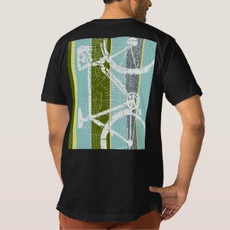 T legal da bicicleta com listras verticais tshirt