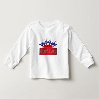 T longo da luva da criança estrelado do Dia da T-shirts