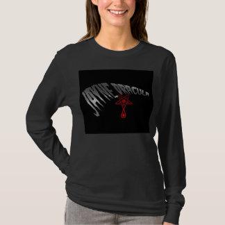 T longo da luva das meninas de Jayne Dracula Camiseta