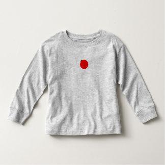 T longo da luva do joaninha da menina camiseta infantil