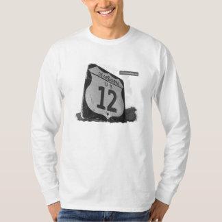 T longo da luva dos homens US-12 Camiseta