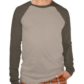 T longo do estêncil do exército da luva do Raglan T-shirts
