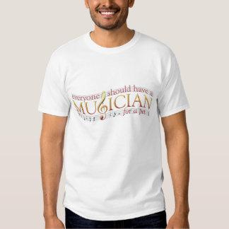 T-Merda do músico do animal de estimação Camisetas