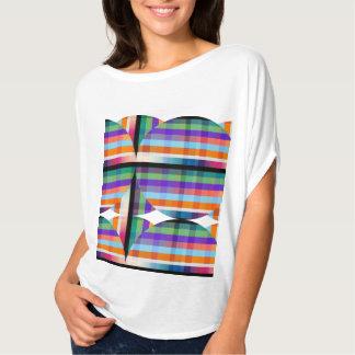 T mergulhado cromático do gráfico dos círculos III T-shirt