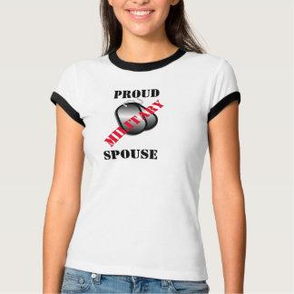 T militar orgulhoso do esposo camisetas