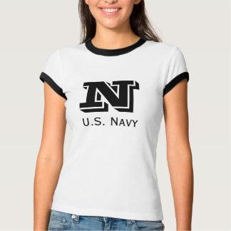 T nao básico doméstico de Bootcamp do marinho do Camiseta