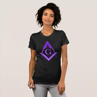 T quadrado maçónico roxo do compasso t-shirts