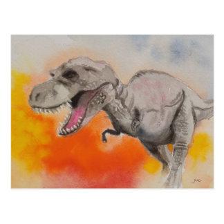 T-rex 1 cartão postal