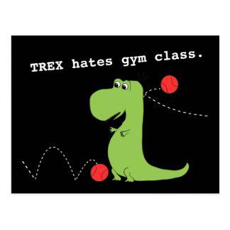 T Rex deia o cartão engraçado do dinossauro da