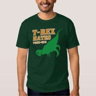 T-Rex que os ódios empurram levanta a camisa de T Tshirt