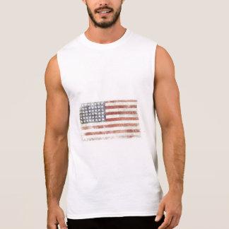 T sem mangas com a bandeira legal dos EUA Regata