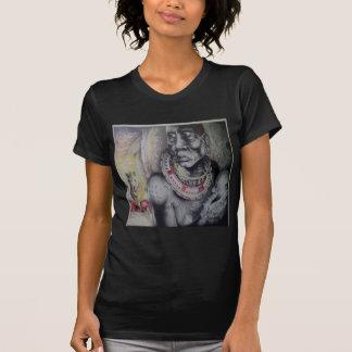 T-Shir básico Hakuna Matata com leões e Masai Camiseta