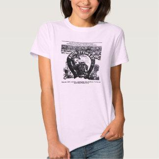 T-shirt 1920 do anúncio do filme do vintage de