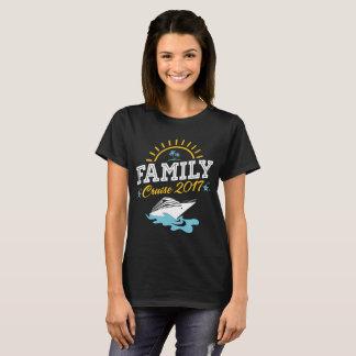 T-shirt 2017 das férias do cruzeiro da família camiseta