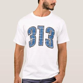 (t-shirt 313 do código de área) camiseta