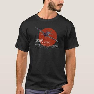 """T-shirt """"A6M zero"""" da arte da aviação"""