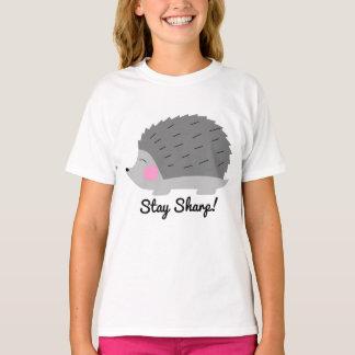 T-shirt afiado das meninas do ouriço da estada camiseta