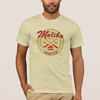 T-shirt afligido clube de ondulação de Malibu Camiseta