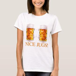 T-shirt agradável do vidro de cerveja dos jarros camiseta