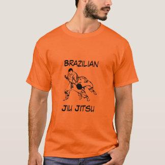 T-shirt alaranjado atlético de Jiu Jitsu do Camiseta