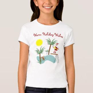 T-shirt alto do feriado do papai noel do mergulho