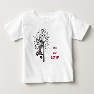 T-shirt amado terra do jérsei da multa do bebê do camiseta para bebê