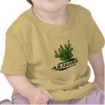 T-shirt amarelo das crianças da pera espinhosa da