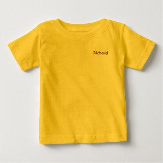 T-shirt amarelo do jérsei da multa do bebê de camiseta para bebê
