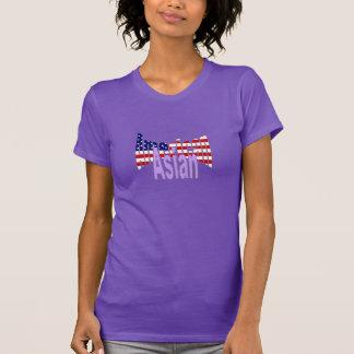 T-shirt americano asiático