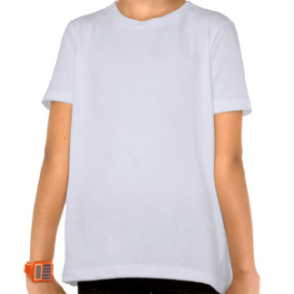 T-shirt americano básico do roupa das meninas
