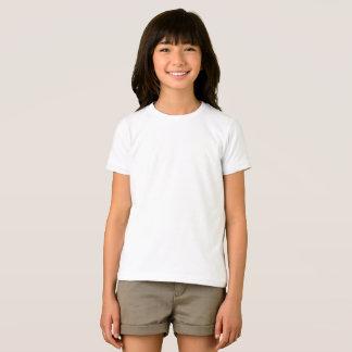 T-shirt americano básico do roupa das meninas camiseta