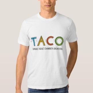 T-shirt americano básico do TACO do roupa dos
