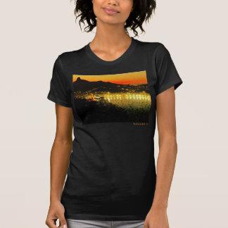 T-shirt americano do jérsei da multa do roupa das camiseta