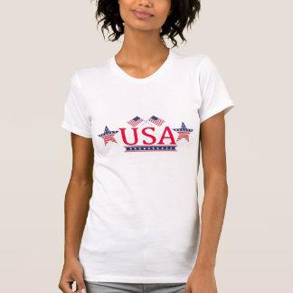 T-shirt americano do jérsei dos EUA da multa do