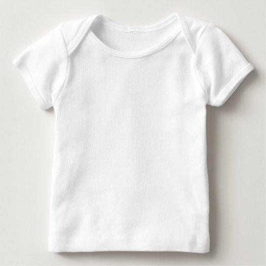 Camiseta Lap para Bebê, American Apparel, Branco