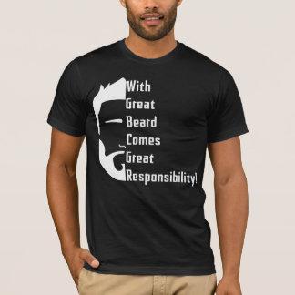 T-shirt americano do roupa da grande barba camiseta