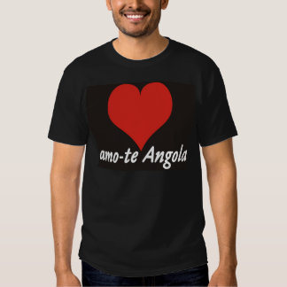 T-shirt - amo-te Angola - de coração