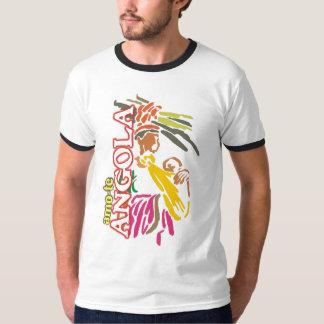 T-Shirt Amo-te Angola - gola Camiseta