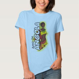 T-shirt Amo-te Angola - Senhora fashion