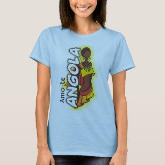 T-shirt Amo-te Angola - Senhora fashion Camiseta
