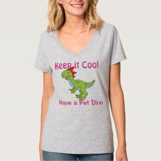 T-shirt animal da mulher de Dino do animal de