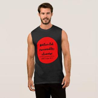 T-shirt anti-social do músculo do transtorno de regata
