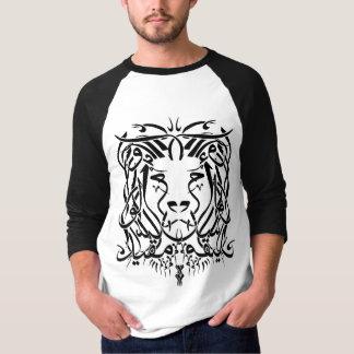 T-shirt árabe da caligrafia do leão (com dizer) camiseta