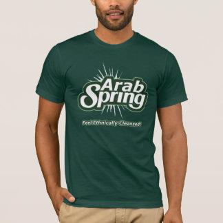 T-shirt árabe do primavera camiseta
