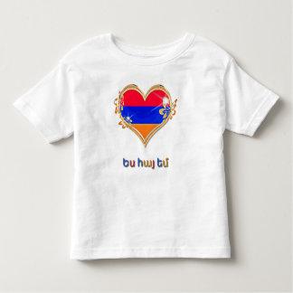 T-shirt arménio do jérsei da multa da criança camiseta infantil
