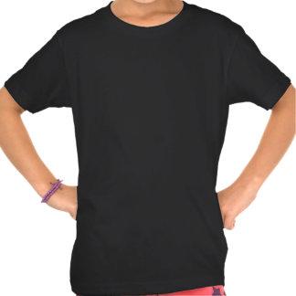 T-shirt atômico preto e branco do teste padrão
